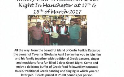 Nikolas Taverna Greek Night in Manchester at 17th& 18th of March 2017